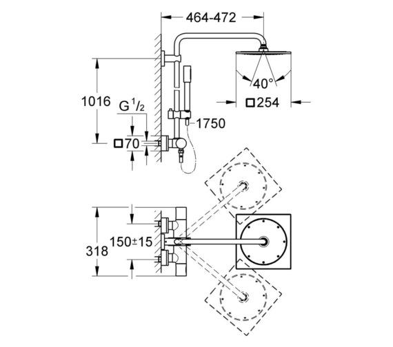 Technical drawing QS-V7840 / 27569000