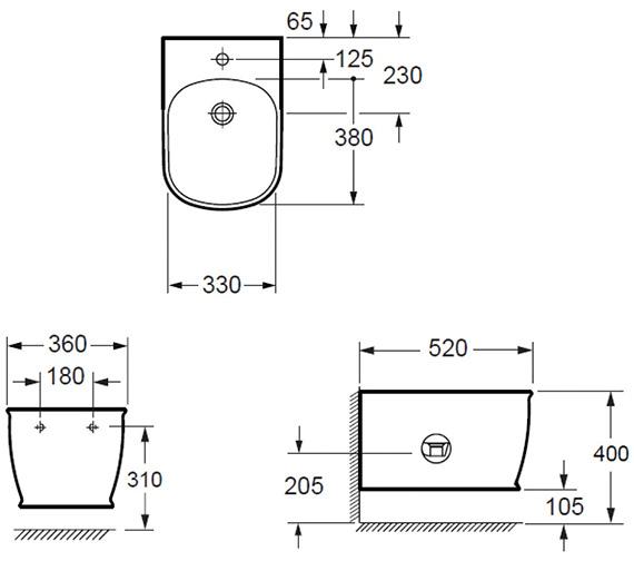 Technical drawing QS-V80394 / BH10150