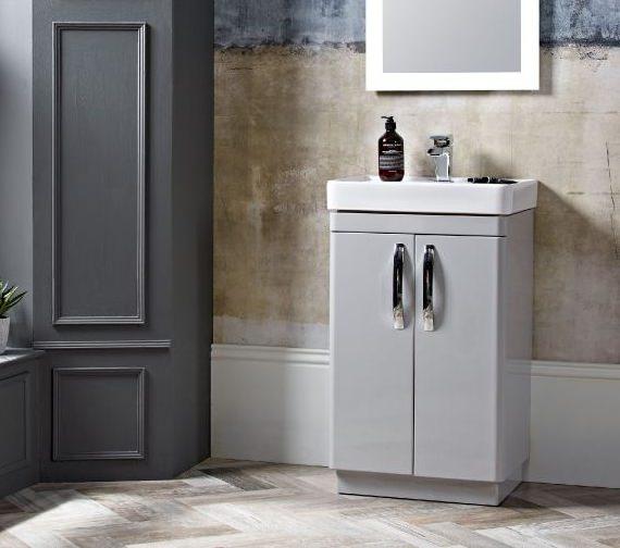Tavistock Compass 500mm 2-Door Floor Standing Vanity Unit Gloss White