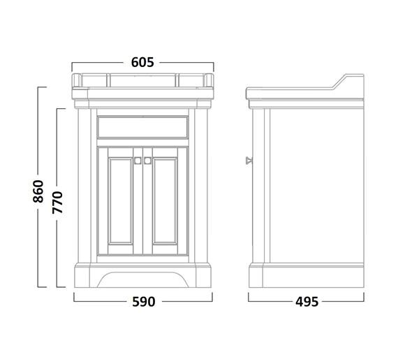 Technical drawing QS-V16659 / VT60FDGM