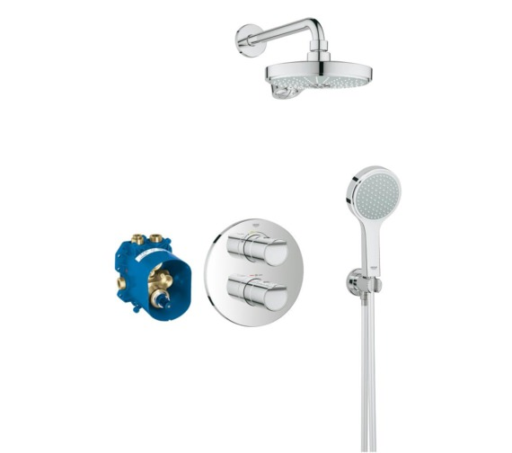 Grohe Grohtherm 2000 New Chrome Concealed Thermostatic Shower Set