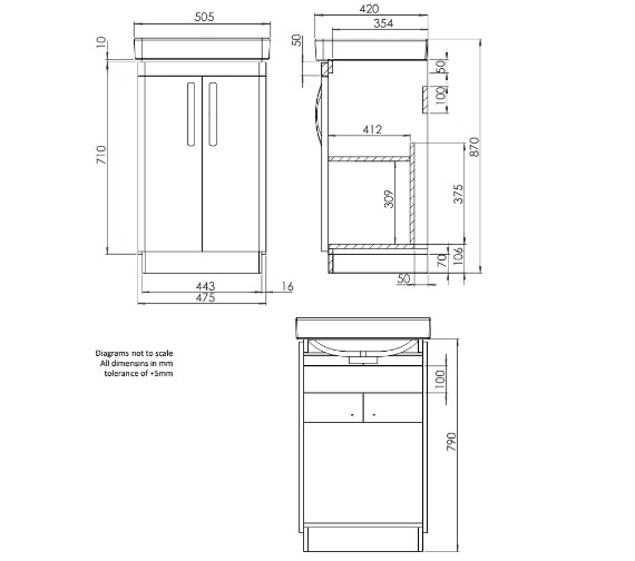 Technical drawing QS-V83918 / CM500FW