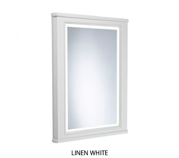 Tavistock Lansdown 556 x 790mm Framed Illuminated Mirror With Linen White Frame