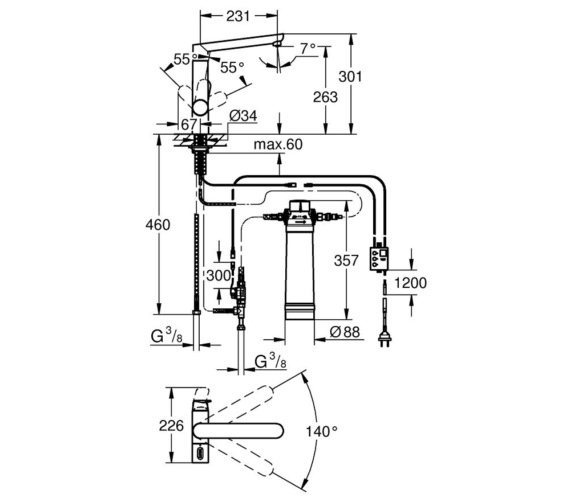 Technical drawing QS-V7856 / 31344001