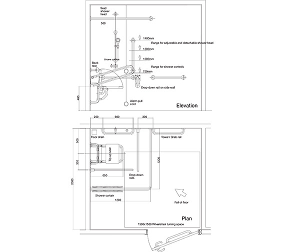 Technical drawing QS-V47326 / PK7005WH