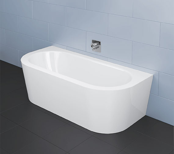Bette Starlet I Silhouette 1850 x 850mm Super Steel Bath With Panel