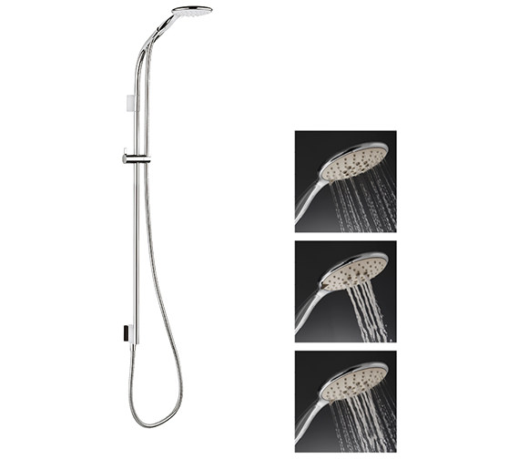 Additional image of Crosswater Svelte Premium Shower Kit With Single Function Handset