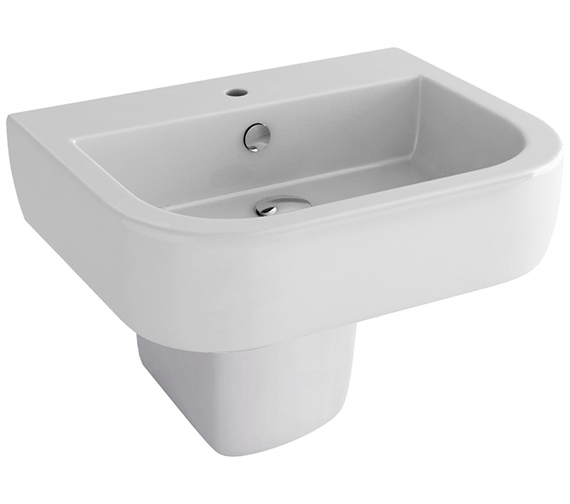 Pura Imex Essence 560mm 1 Tap Hole Basin And Half Pedestal