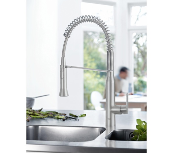Grohe K7 Single Lever Kitchen Sink Mixer Tap Chrome