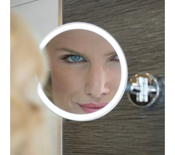 HIB Eclipse Round LED Illuminated Magnifying Mirror