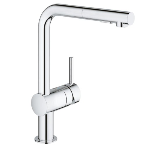 Grohe Minta Deck Mounted Chrome Kitchen Sink Mixer Tap