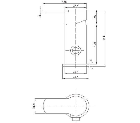 Technical drawing QS-V21895 / WP0005DC