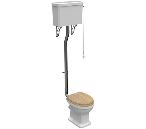 Pura Imex Wyndham Traditional High Level WC Set