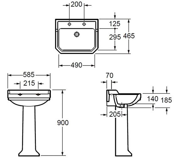 Technical drawing QS-V80421 / L101422