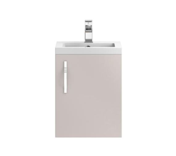 Hudson Reed Apollo 400mm Cashmere Wall Hung Cabinet With Basin