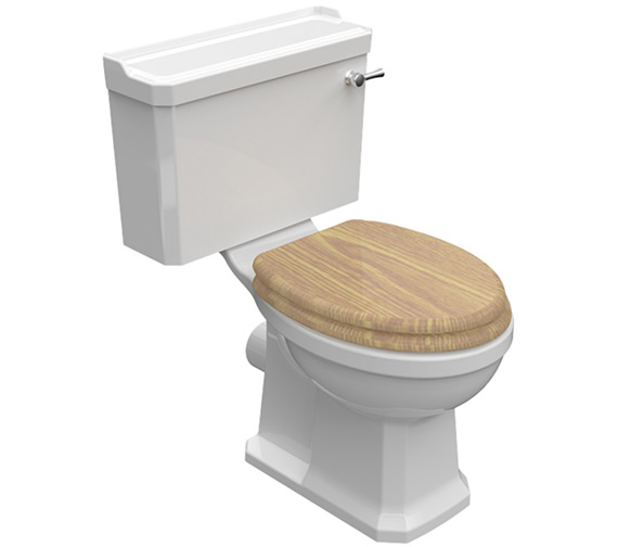 Pura Imex Wyndham Traditional Close Coupled WC Bowl And Cistern 690mm