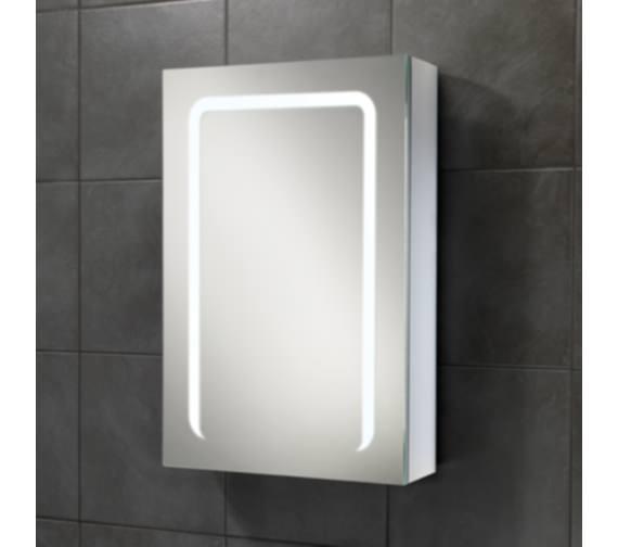 HIB Stratus 50 LED Demisting Aluminium Mirror Cabinet 500 x 700mm