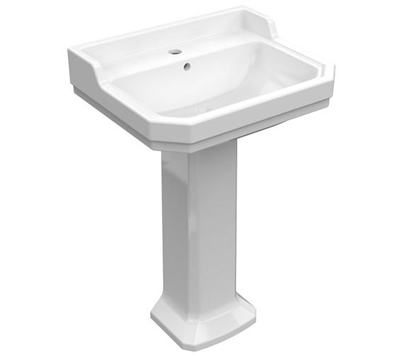 Pura Imex Wyndham 580mm Wide Basin And Full Pedestal