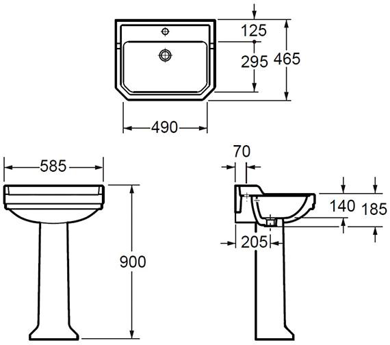 Technical drawing QS-V80420 / L101421