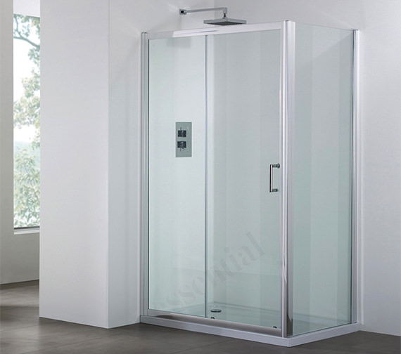 April destini 1200mm sliding shower door ap9325s for 1200mm shower door sliding
