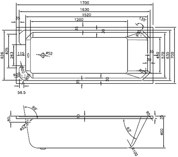 Technical drawing QS-V14402 / LDB109