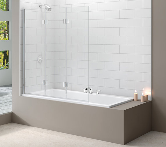 Merlyn Ionic Three Panel Folding Hinged Bathscreen 1400 x 1500mm