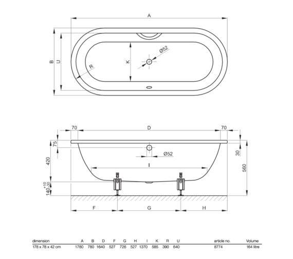 Technical drawing QS-V52721 / 8774 000
