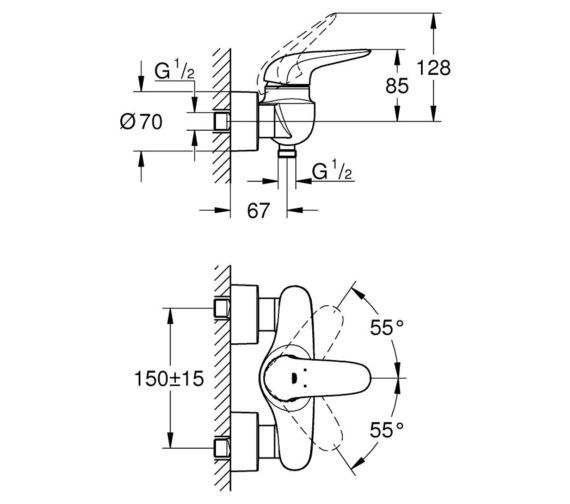 Technical drawing QS-V7791 / 23722LS3