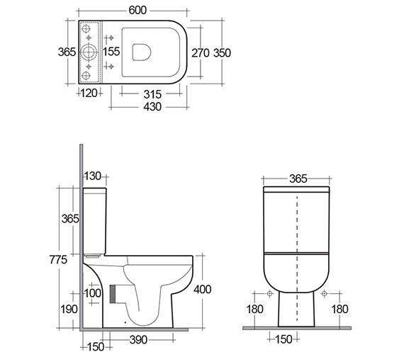 Technical drawing QS-V36223 / S600PAKSC