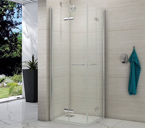 Merlyn 8 Series Double Folding Showerwall 800 x 800mm