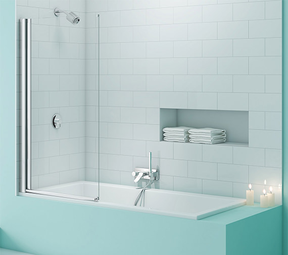 Merlyn SecureSeal Single Panel Bath Screen 800 x 1500mm
