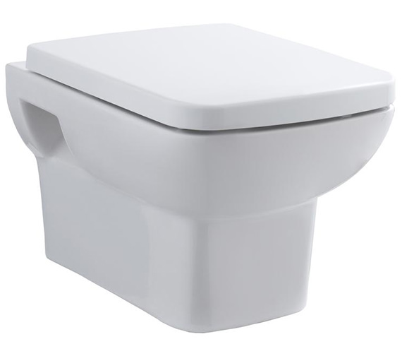 Nuie Ambrose Wall Hung WC Pan 525mm And Seat