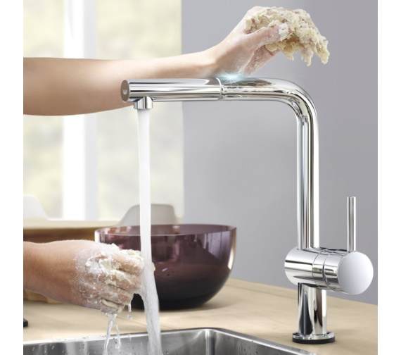 Additional image of Grohe Minta Electronic Half Inch Single Lever Kitchen Sink Mixer Tap Chrome