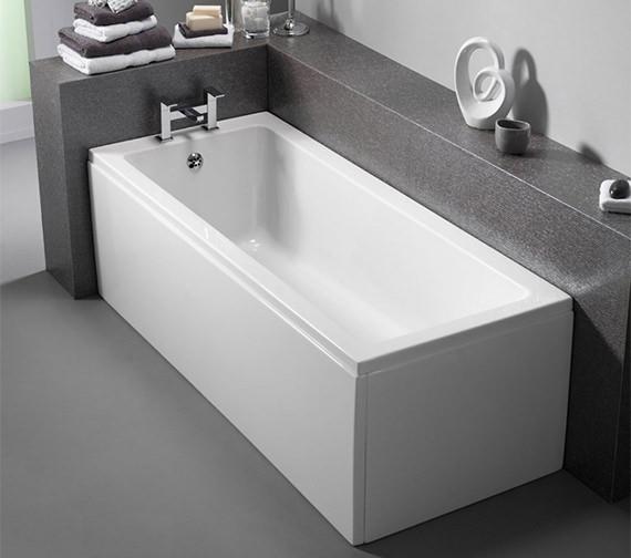 Pura bloque 1400 x 700mm single ended bath pbbqse14x7 for Small baths 1400