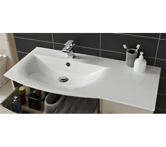 Alternate image of Hudson Reed Sarenna 1000 x 500mm 2 Door And 1 Drawer Cabinet And Basin