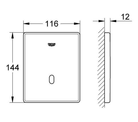 Technical drawing QS-V87154 / 37321001