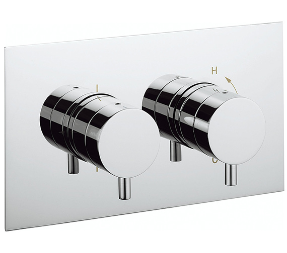 Crosswater Kai Lever Landscape Recessed Thermostatic Valve With 2W Diverter