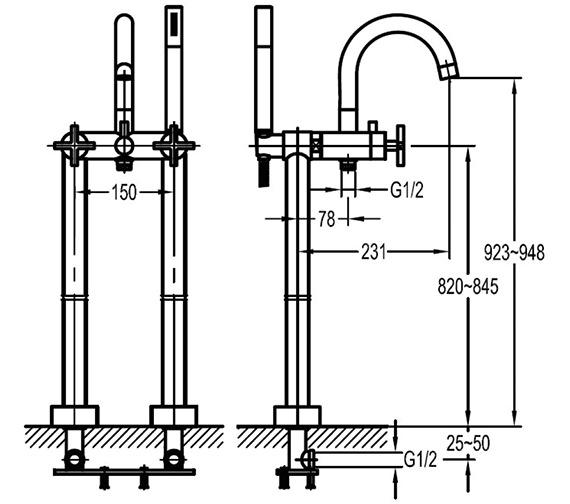 Technical drawing QS-V84377 / LVTBSM
