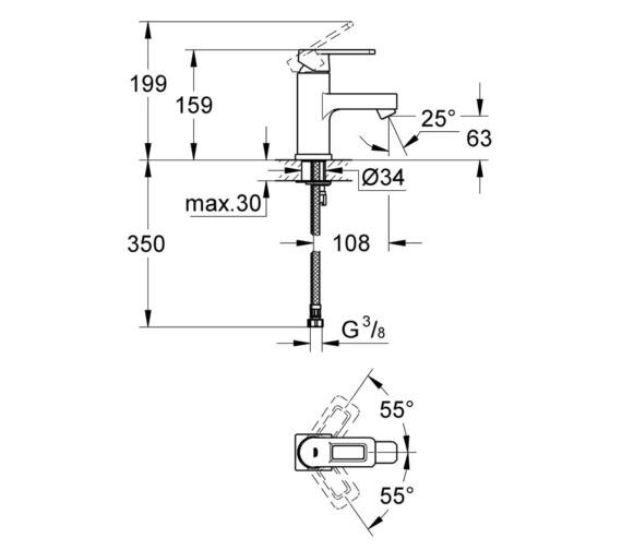 Technical drawing QS-V87156 / 23105000