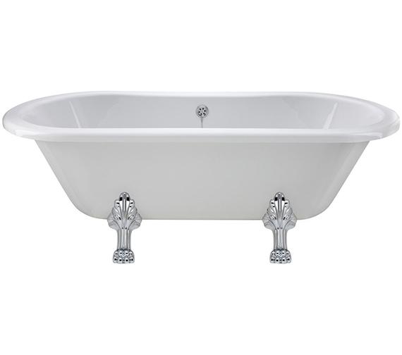 Lauren Grosvenor 1500 x 745mm Freestanding Acrylic Bath With Pride Legs
