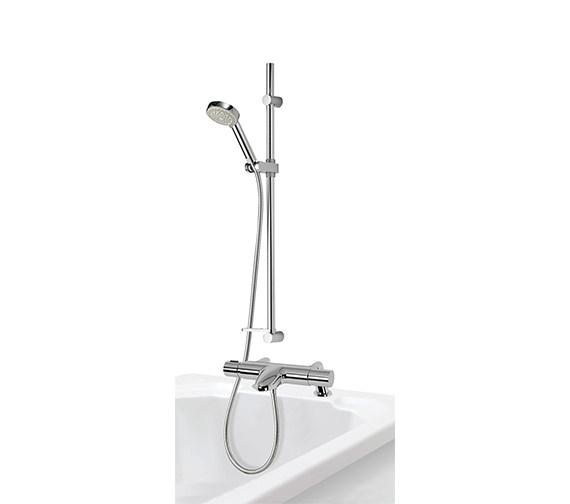 Aqualisa Midas 110 Thermostatic Bath Shower Mixer Tap With Slide Rail Kit