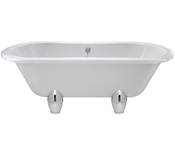 Lauren Grosvenor 1500 x 745mm Freestanding Acrylic Bath With Deacon Legs