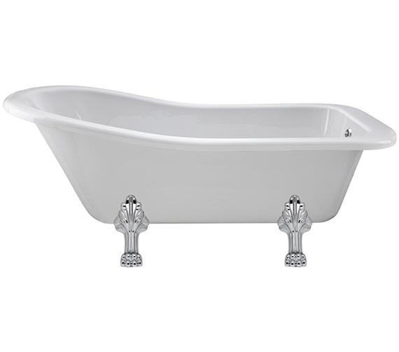 Lauren Kensington 1500 x 730mm Freestanding Acrylic Bath With Pride Legs