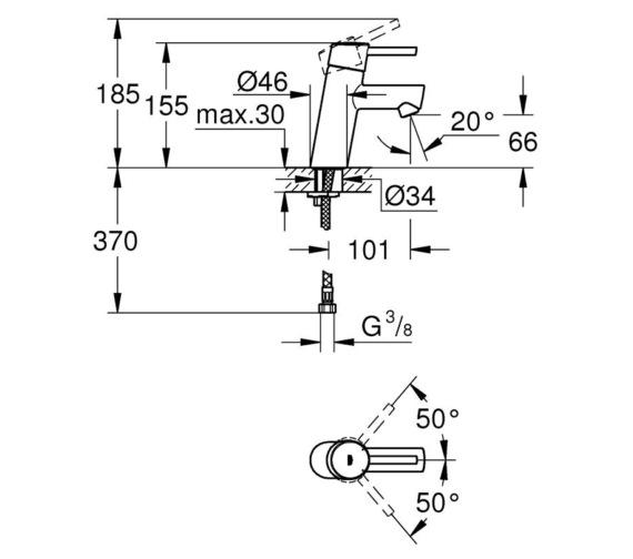 Technical drawing QS-V7793 / 3224010E