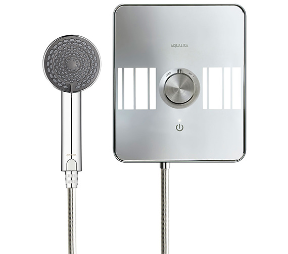 Alternate image of Aqualisa Lumi White And Chrome Electric Shower 9.5kW