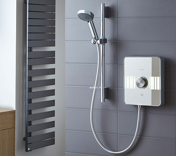 Aqualisa Lumi White And Chrome Electric Shower 9.5kW