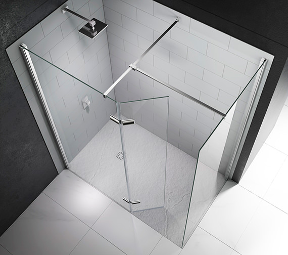 Alternate image of Merlyn 8 Series Walk In With Hinged Swivel Panel 1200 x 800mm