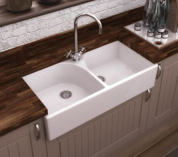 Old London Athlone 795 x 500mm Two Bowl Kitchen Sink