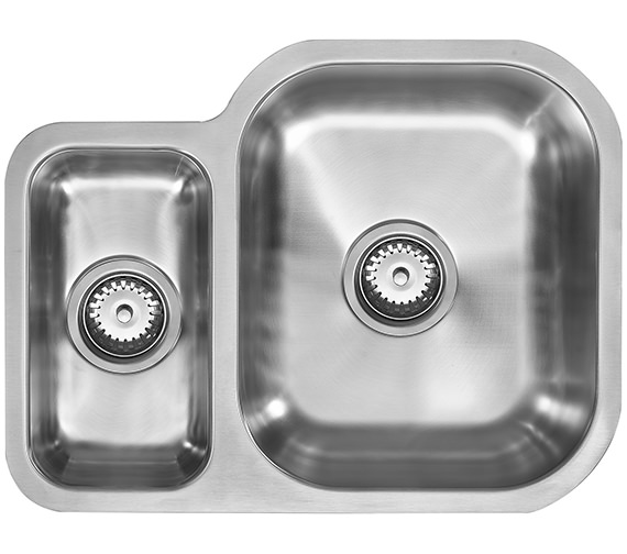 1810 Company Etroduo 589-450U BBR 1.5 Bowl Undermount Sink -Right Hand Big Bowl