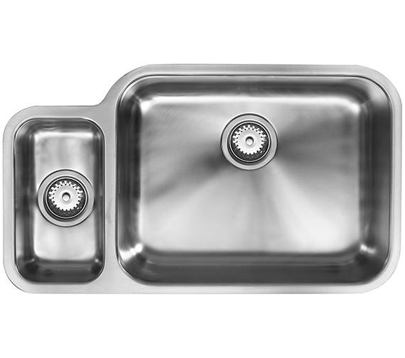 1810 Company Etroduo 781-450U BBR 1.5 Bowl Undermount Sink - Right Hand Big Bowl